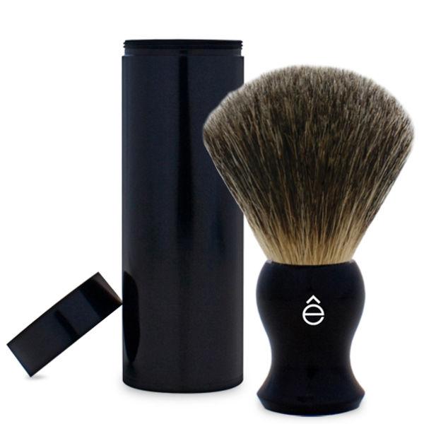 Brocha de afeitar de pelo de tejón y funda de viaje eShave (negro)