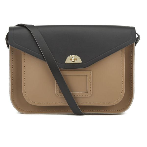 The Cambridge Satchel Company Women's Shoulder Bag Satchel - Strap Black/Biscuit