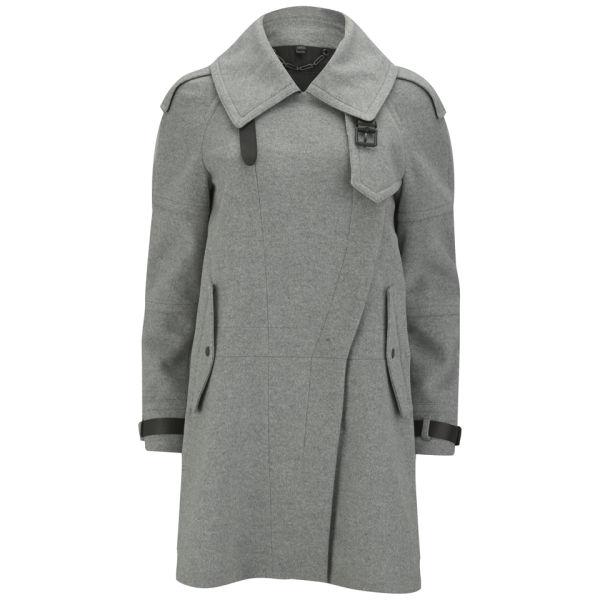 Belstaff Women's Farlow Wool Cashmere Coat - Light Grey Melange