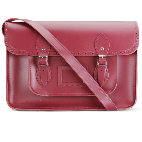 The Cambridge Satchel Company 15 Inch Season Brogued Leather Satchel - Chianti