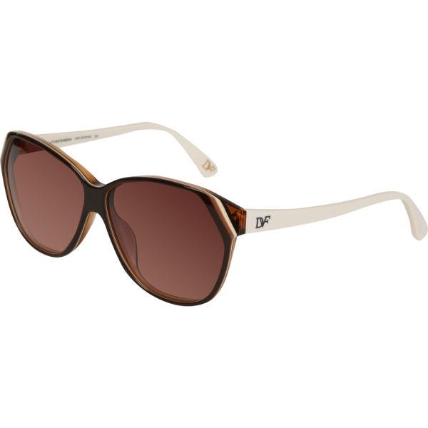 Diane von Furstenberg Addy Oversized Cat Eye Sunglasses - Dark Brown