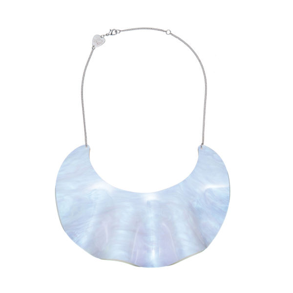 Tatty Devine Ruffle Waves Bib Necklace - Opal