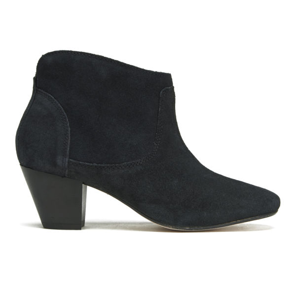 H Shoes by Hudson Women's Kiver Suede Heeled Ankle Boots - Black