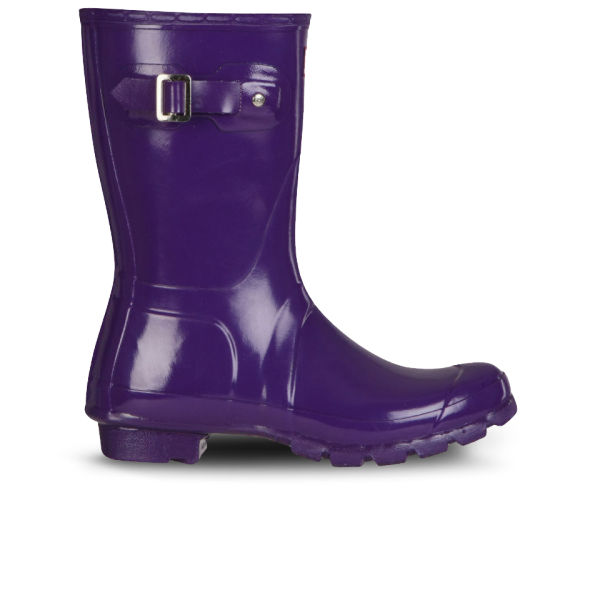 Hunter Women's Original Short Gloss Wellington Boots - Sovereign Purple