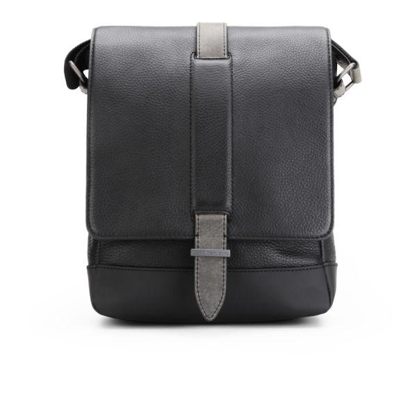 Calvin Klein Covered Straps Leather Camera Bag Black