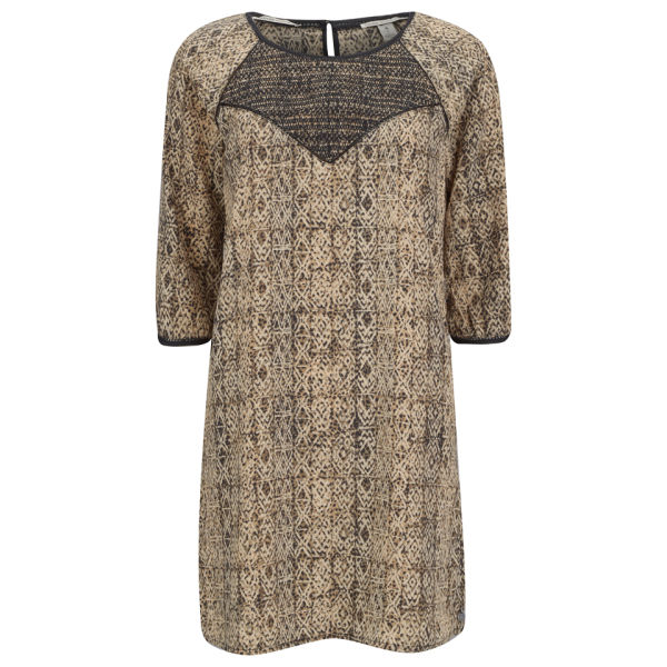 Maison Scotch Women's Mini Dress with Smocked Front - Nude