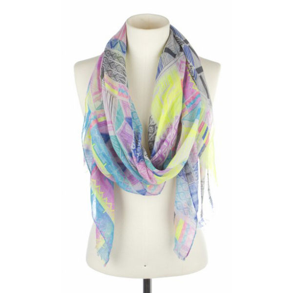Codello Multicoloured Ethno Scarf - Off White