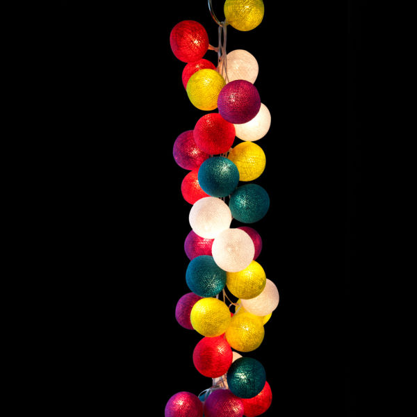 Cable & Cotton String Light 35 Balls - Rainbow Drops IWOOT