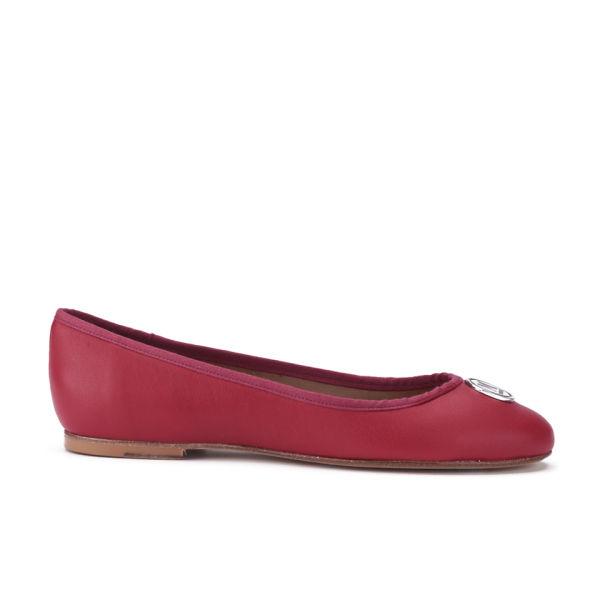 M Missoni Women's Leather Ballerina Pumps - Red