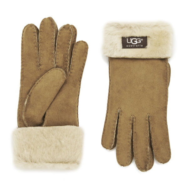 UGG Women's Classic Turn Cuff Gloves - Chestnut