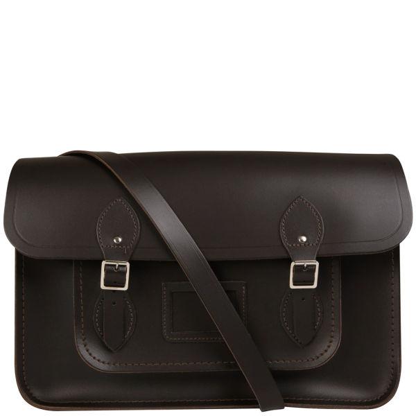 The Cambridge Satchel Company 15 Inch Leather Satchel - Dark Brown