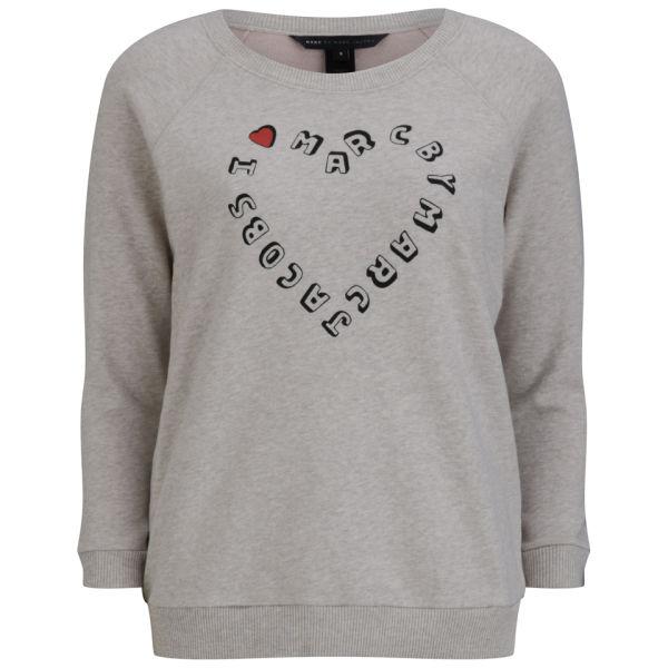 Marc by Marc Jacobs Women's I Heart MJ Sweatshirt - Slate Grey