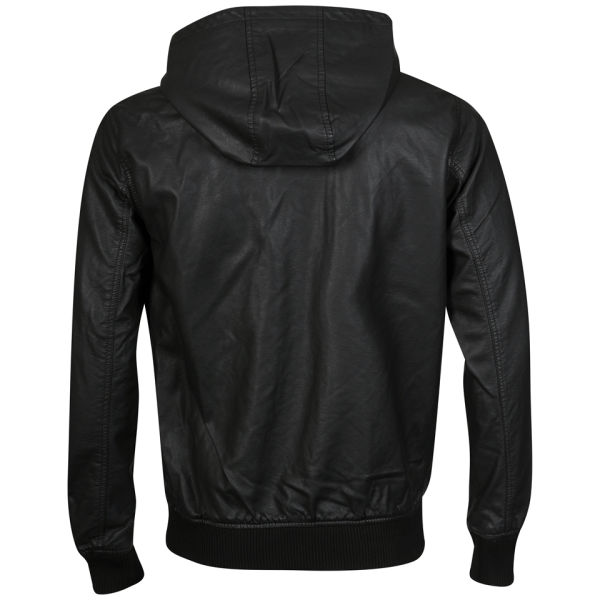 Brave Soul Men's Ed Bomber Jacket With Double Hood - Black: Image 61