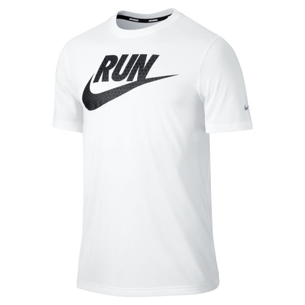 Nike Men 39 S Legend Run T Shirt White Sports Leisure