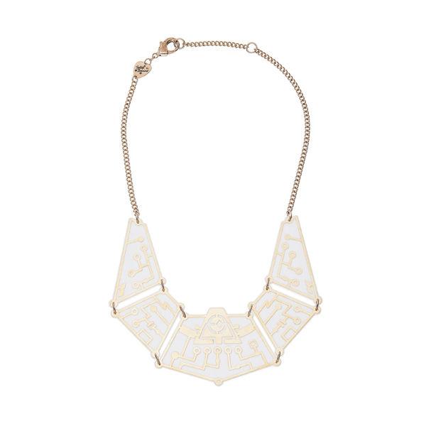 Tatty Devine Future Circuit Necklace - White