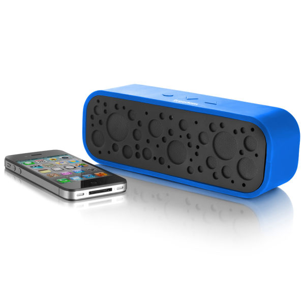 bluetooth soundbox with mic blue iwoot. Black Bedroom Furniture Sets. Home Design Ideas