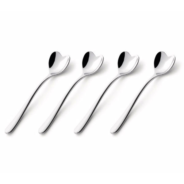 Alessi Set of Four Heart Coffee Spoons