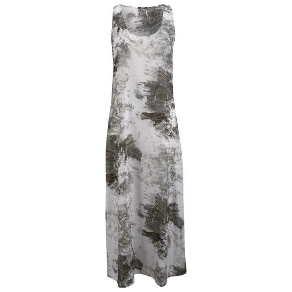 Denham Women's Silk Print Maxi Dress - Ash Grey