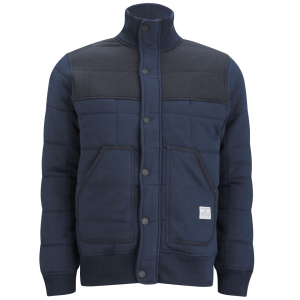jack jones men 39 s ricky sweat quilted jacket blue clothing zavvi. Black Bedroom Furniture Sets. Home Design Ideas