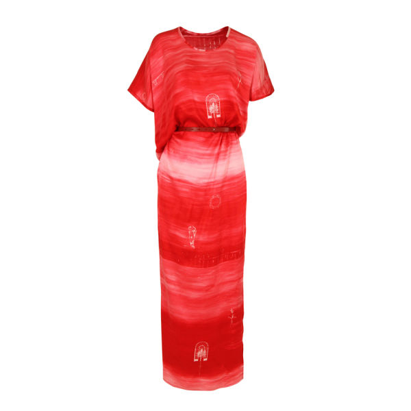 Draw In Light Women's 9 Silk Goddess Dress - Red Noise