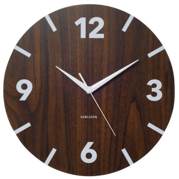 Wall Clock Wood Block Numbers Homeware