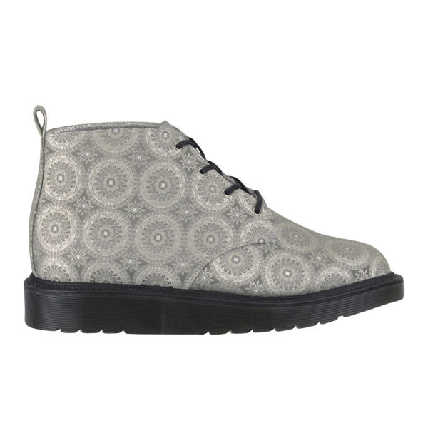 Dr. Martens Made in England Women's Bev 4-Eye Silk Boots - Light Grey