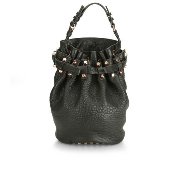 Alexander Wang Women's Diego Pebble Leather Bag - Black with Rose Gold Hardware