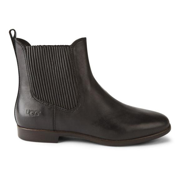 UGG Women's Jo Leather Chelsea Boots - Black
