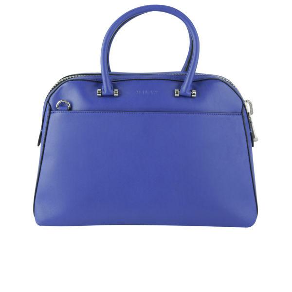 MILLY Blake Medium Kettle Leather Tote Bag - Blue