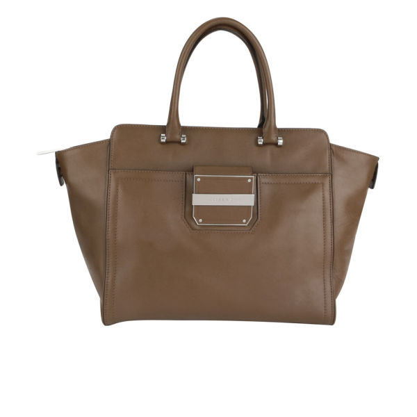 MILLY Colby Solid Leather Tote Bag - Luggage