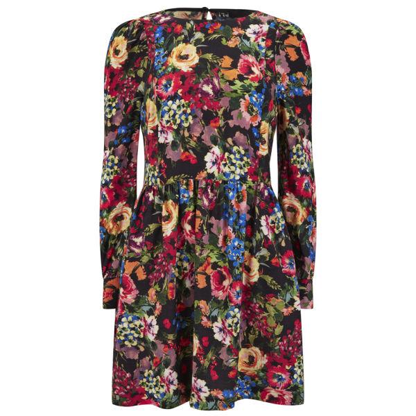 Love Moschino Women's Long Sleeved Flower Dress - Multi