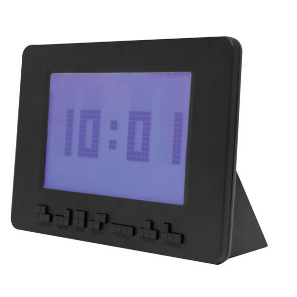 Black Tetris Alarm Clock