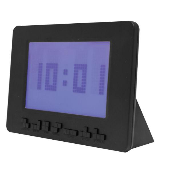 Black Tetris Alarm Clock