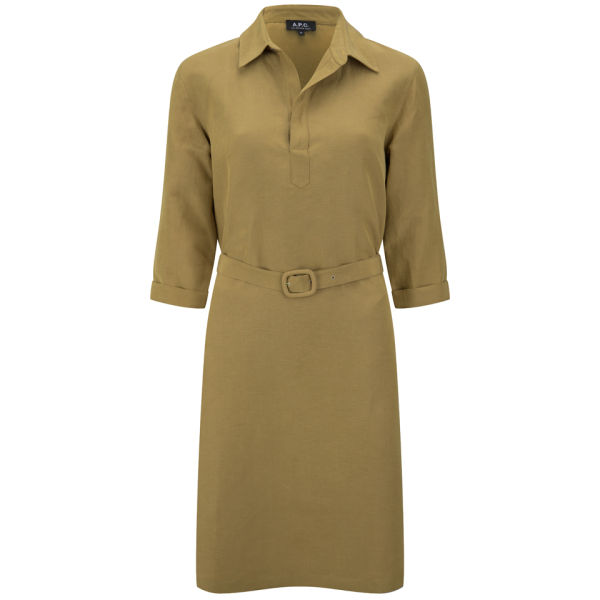 A.P.C. Women's Claudia Dress - Camel Cab