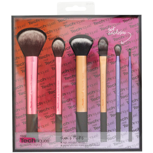 real techniques sam 39 s picks brush set gratis lieferservice weltweit. Black Bedroom Furniture Sets. Home Design Ideas
