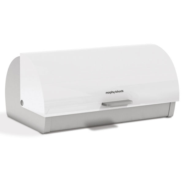 morphy richards accents roll top bread bin white. Black Bedroom Furniture Sets. Home Design Ideas