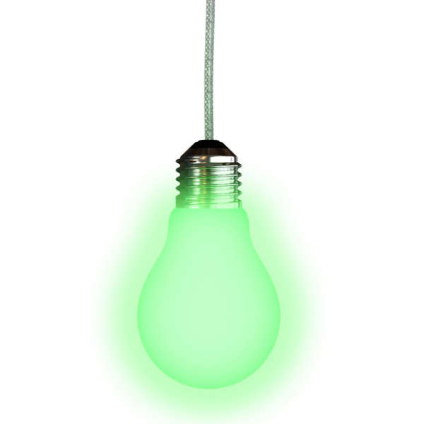 bulb shaped glow in the dark light pull iwoot. Black Bedroom Furniture Sets. Home Design Ideas