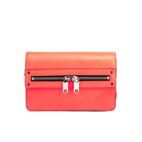 MILLY Women's Riley Small Cross Body Leather Bag - Neon Peach