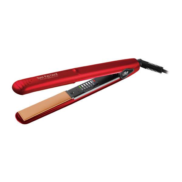 Diva Professional Styling Feel the Heat Intelligent Digital Styler Chromatix Straightener - Cherry Red