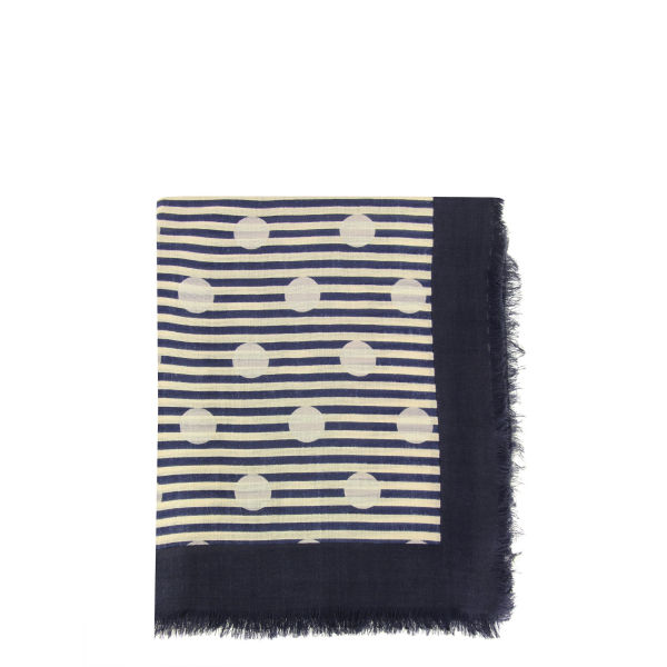 Marc by Marc Jacobs Women's 863 Willa Dot Bright Scarf - Navy