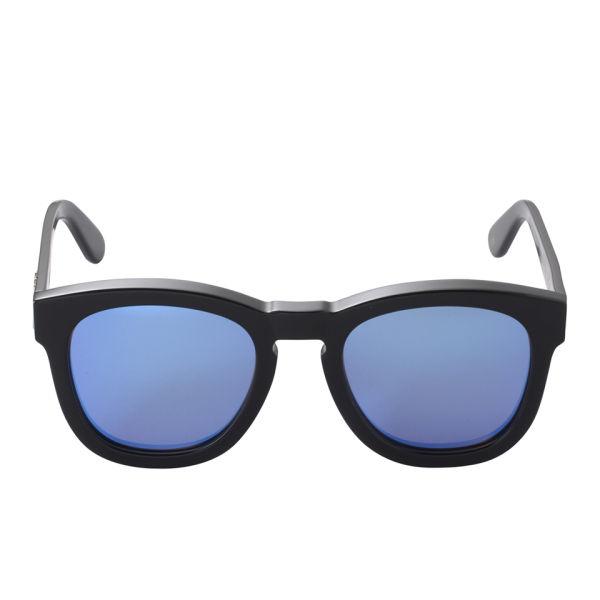 Wildfox Classic Mirror Sunglasses - Black/Blue