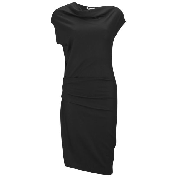 Helmut Lang Women's Wool Drape Dress - Black 001