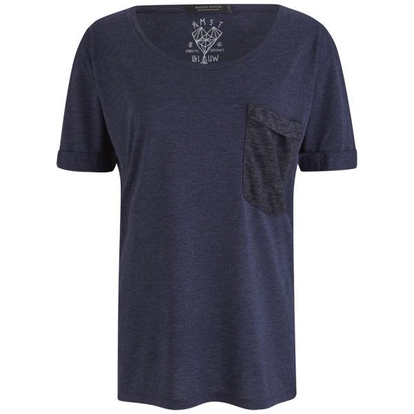 Maison Scotch Women's Pocket T-Shirt - Navy