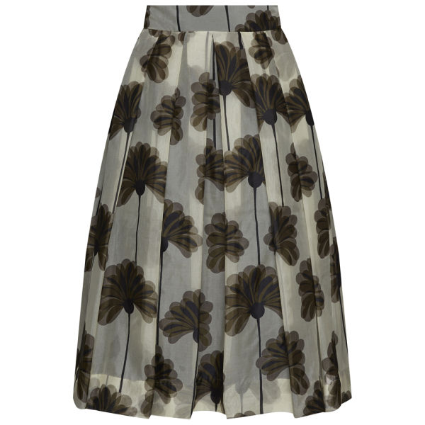 Orla Kiely Women's Giant Wallflower Print Organza Skirt - Graphite