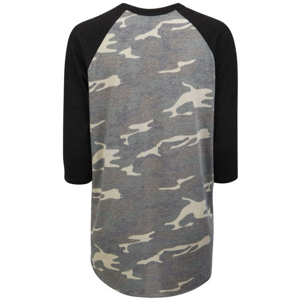 Prince Peter Women's Bad To The Bone Raglan T-Shirt - Camo