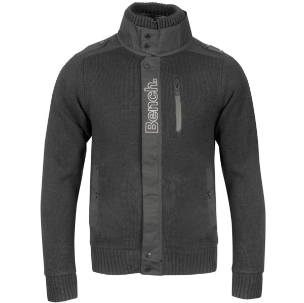 Bench Men S Tobias Fleece Jacket Black Clothing Zavvi Com