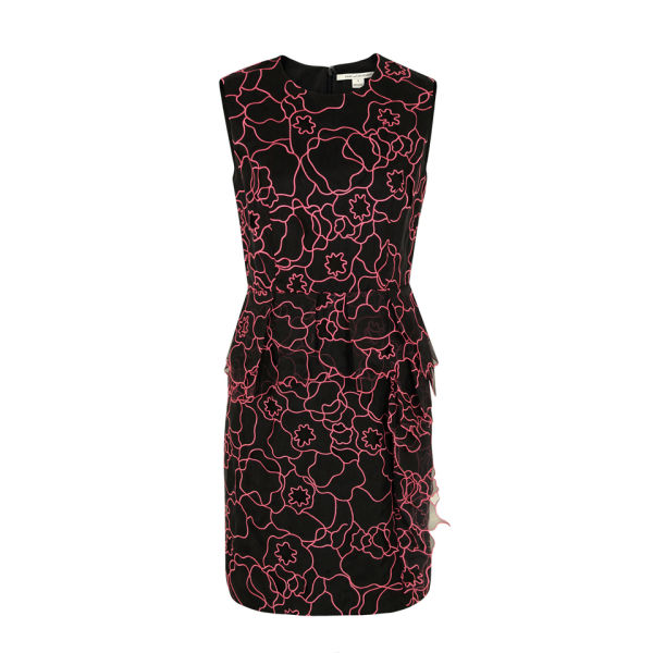 Diane von Furstenberg Women's Leni Interlaced Dress - Black and Pink