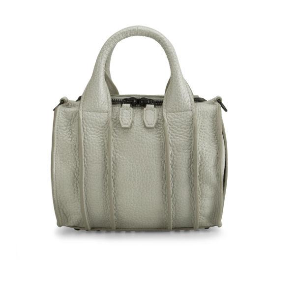 Alexander Wang Rockie Inside Out Mini Leather Bowler Bag - Chalk/Black Stud