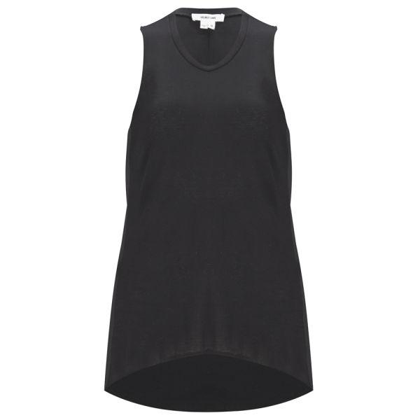 Helmut Lang Women's Kinetic Jersey Tank Top - Black