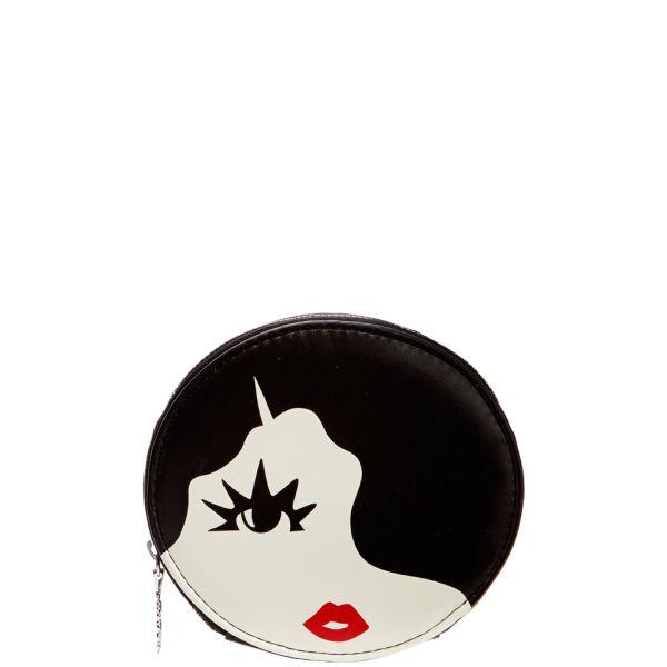Lulu Guinness Marcel Wave Oval Coin Purse - Black